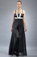 Černé šaty se šifónovým krešovaným potahem