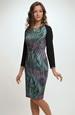Krátké šaty z jemné melírované pleteniny