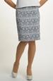Žakárová sukně - úzká