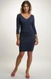 Pouzdrové šaty v modré barvě