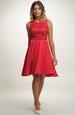 Červené dívčí šaty do tanečních 2018
