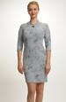 Pleteninové šaty s plastickým vzorem