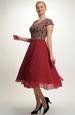 Šifónové plesové šaty se spodničkou