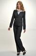 Černo šedý módní kostým do práce