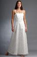 Svatební šaty na ramínka se stuhou