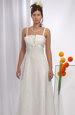 Elegantní svatební šaty s mašličkou