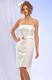 Tubové šaty bez ramínek zdobené páskem