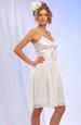 Prádlové bílé šaty s živůtkem ve tvaru X