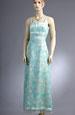 Šaty na svatbu v jemné tyrkysové barvě
