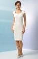 Krátké bílé šaty s malými rukávky