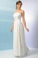 Svatební šaty s bohatě řasenou sukní