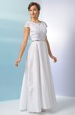 Svatební šaty s bohatou sukní a výšikou