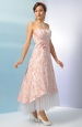 Korzetové šaty s asymetrickou sukní