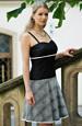 Černobílé minišaty s kolovou sukní