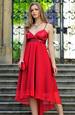 Šaty s řaseným sedlem a asymetrickou sukní