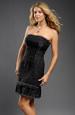 Černé šaty bez ramínek vhodné i na párty