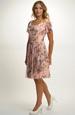 Společenské šaty elastického tylu s potiskem