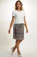 Dámský komplet se vzorem na sukni