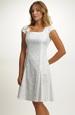 Krátké elastické svatební šaty