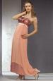 Svatební šaty v meruńkové barvě s krajkou