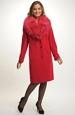 Dámský červený kabát