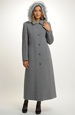 Dlouhý dámský kabát světlý