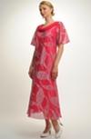 Šaty s ozdobným řasenÍm u výstřihu