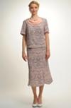 Společenský sukňový kostýmek se vzorem krajky