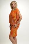 Tunikové šaty s grafickým vzorem