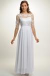 Bílé svatební šaty z vyšívaného tylu