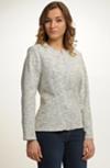 Dámský kabátek - sako z žakárové pleteniny
