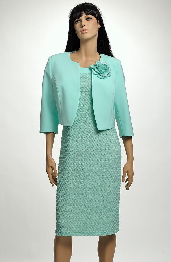 6fede5ab2605 Dámský komplet- pouzdrové šaty s kabátkem ...