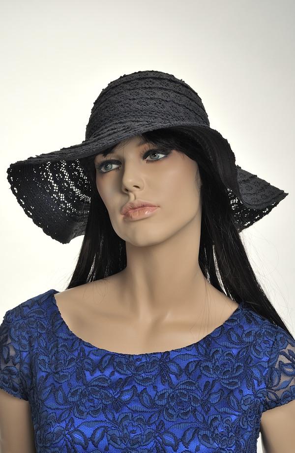 Černý dámský letní klobouk  ba08457097