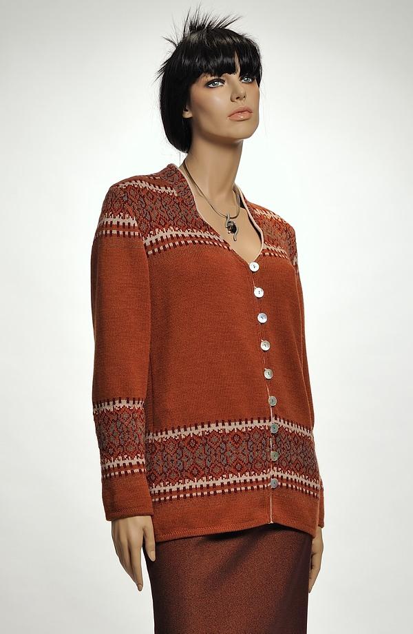 fd565666e04 Dámský svetr s norským vzorem z vlny Merino ...