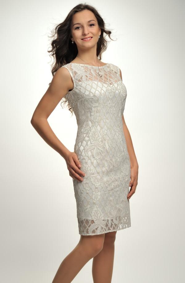 9dce225ecf3 Elegantní pouzdrové šaty na svatbu z módního materiálu ...