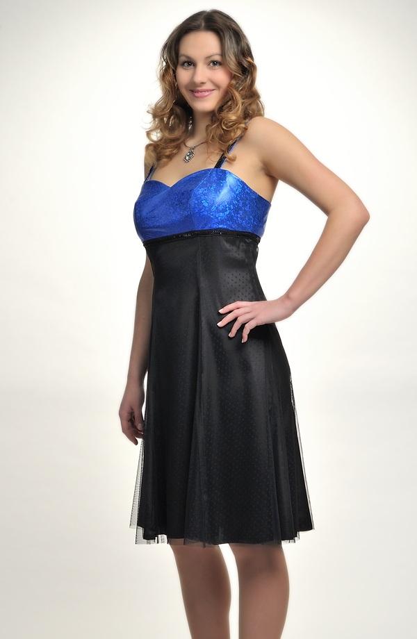 dc9601021abf Retro šaty s drobnými stříbrnými puntíky