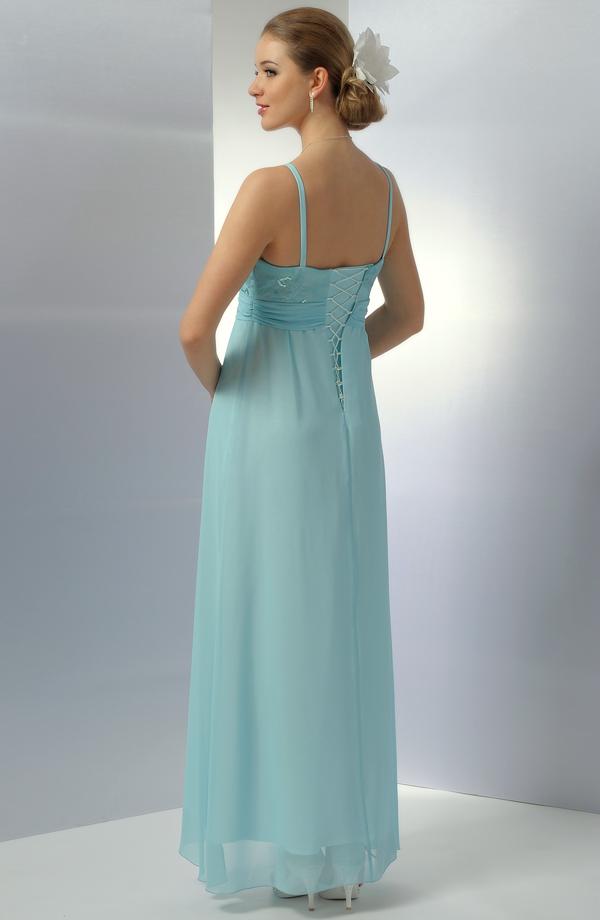 dc417ca9106 ... Dlouhé společenské šaty v antickém střihu a tyrkysovém odstínu