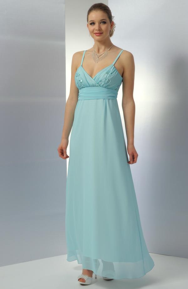 ... Dlouhé společenské šaty v antickém střihu a tyrkysovém odstínu 578695a9c3
