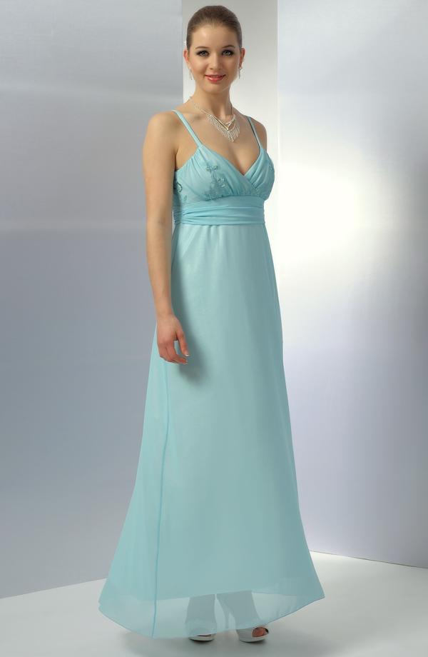 Dlouhé společenské šaty v antickém střihu a tyrkysovém odstínu 3ea0299714