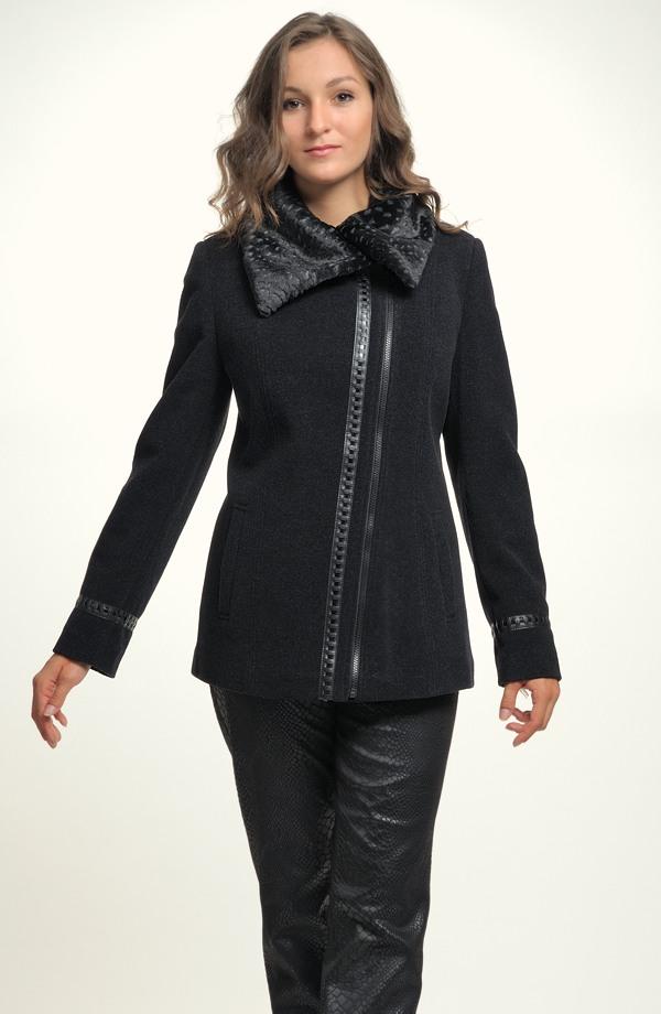 bea3145159 Mladistvý krátký černý kabátek na zip ve velikostech 38,40,42,44 ...