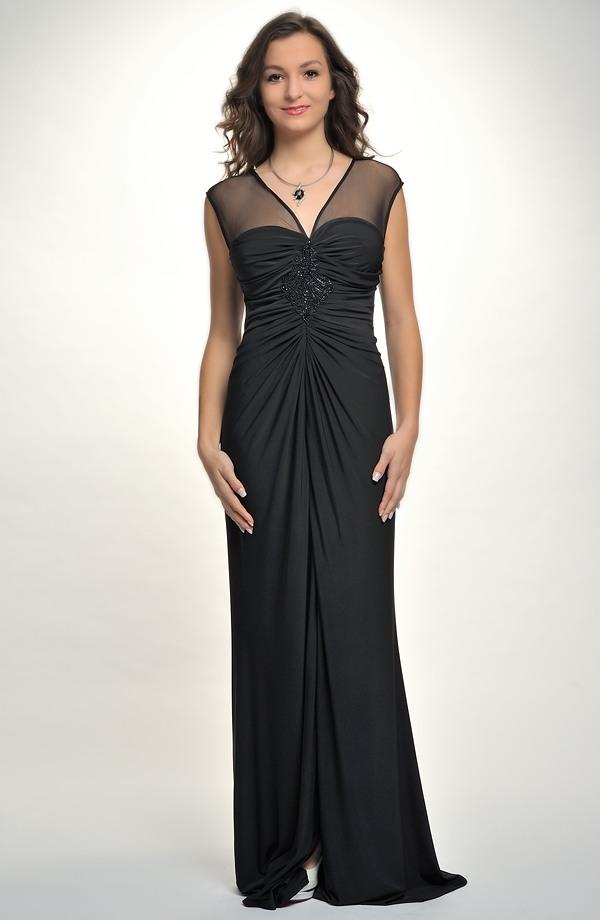 74bef127bd0 Levné společenské šaty s tylem a flitry