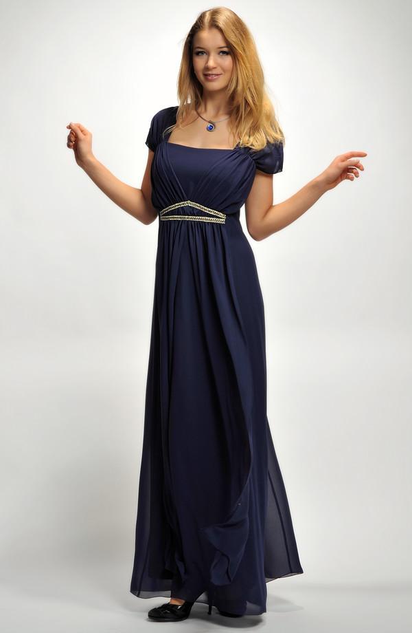 ... Dlouhé společenské šaty pro plnoštíhlé a silnější postavy 828b7f0c14