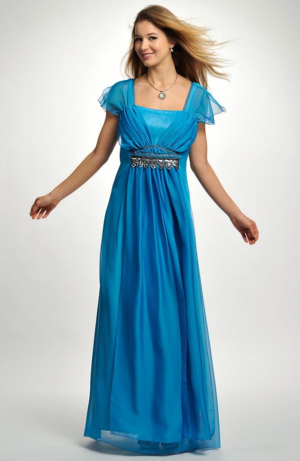 46 až Elegantní dlouhé společenské šaty pro plnoštíhlé jsou vhodné i pro  baculky 95eab18629