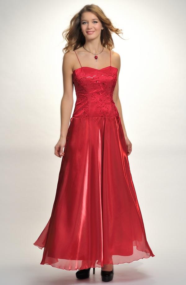 Korzetové šaty na ples s dlouhou kolovou sukní z organzy ... 9f02db09f5