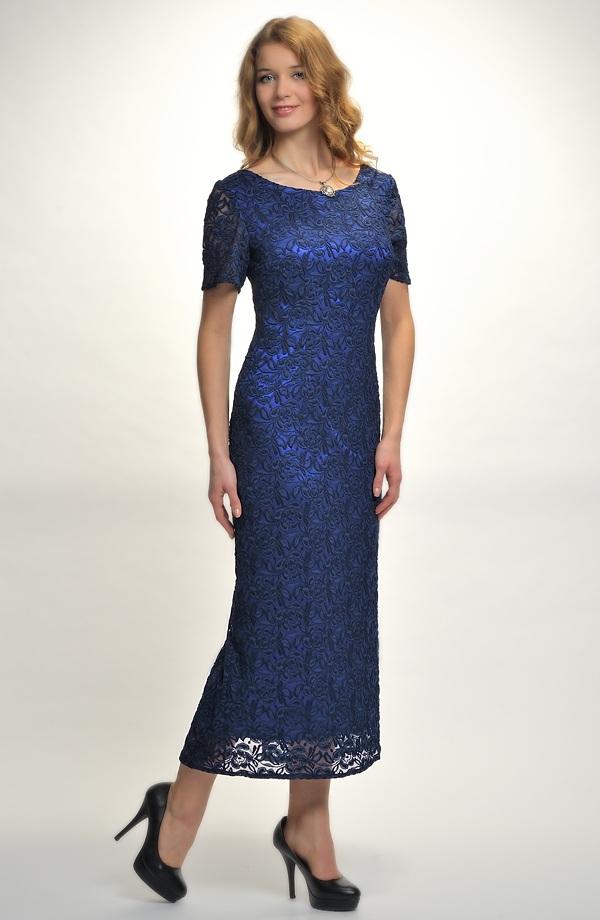 Plesové dlouhé dámské šaty z luxusní krajky - vel. 36 054ce110ef