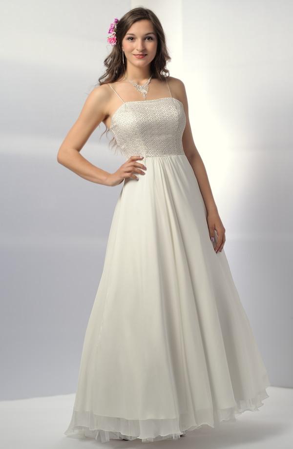 ... Svatební šaty na ramínka s krajkovým živůtkem a bohatou sukní ... 9973316d00