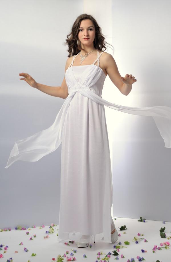 3f9cd623a18 Svatební šaty s řasením v antickém stylu