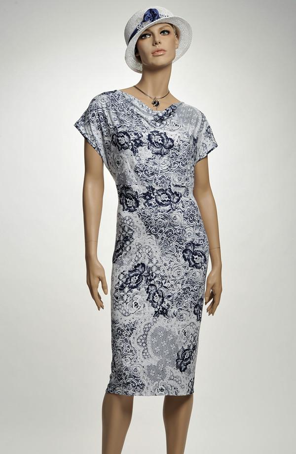 9326ebdf571b Letní koktejlové šaty z jemného elastanu ...