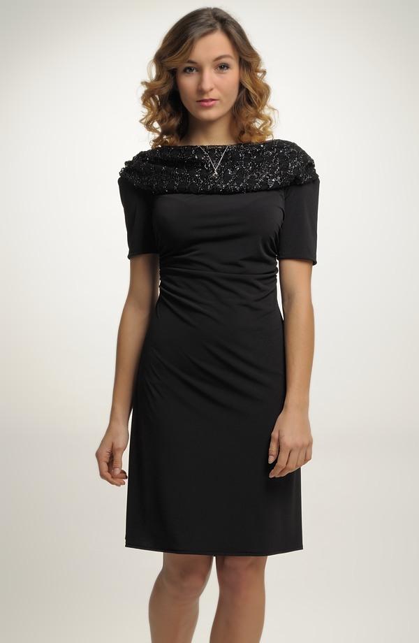 7aa4f6b22c1 Elegantní dámské malé černé koktejlové šaty na ples z elastické tkaniny
