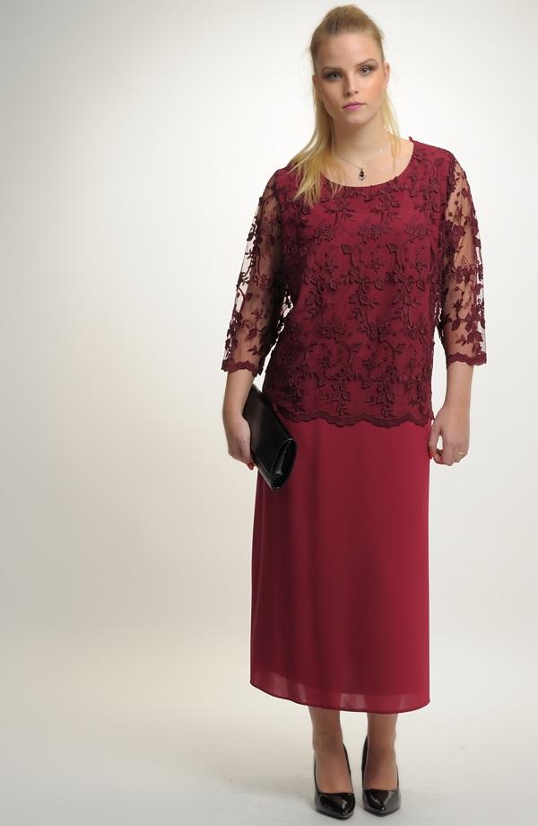 Šifónové šaty s krajkou ... 399c659442